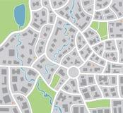 De kaart van de stad Royalty-vrije Stock Afbeeldingen
