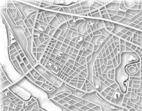 De kaart van de stad Royalty-vrije Stock Foto