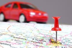 De kaart van de stad. Stock Foto's