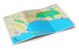 De kaart van de stad Stock Fotografie