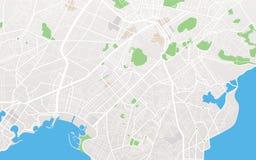 De kaart van de stad royalty-vrije illustratie