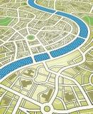 De kaart van de stad Stock Foto's