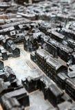 De kaart van de stad voor blinde mensen Royalty-vrije Stock Afbeelding