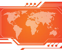 De Kaart van de Technologie van de wereld Stock Afbeeldingen