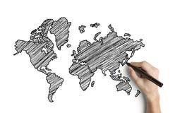 De kaart van de tekening Stock Afbeelding