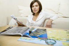 De kaart van de toerist   Royalty-vrije Stock Foto's