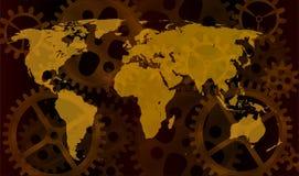 De kaart van de toestelwereld Stock Afbeeldingen