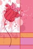 De kaart van de tulp Stock Afbeelding