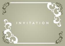 De Kaart van de uitnodiging Stock Fotografie