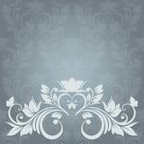 De kaart van de uitnodiging met abstracte bloemenachtergrond. E Stock Afbeelding