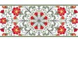 De kaart van de uitnodiging met bloemenornament Royalty-vrije Stock Foto