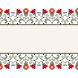 De kaart van de uitnodiging met bloemenornament Stock Fotografie