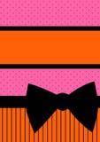 De Kaart van de uitnodiging met Boog over Punten en Strepen vector illustratie