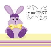 De kaart van de uitnodiging met konijntje Stock Afbeeldingen