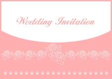 De Kaart van de Uitnodiging van het huwelijk stock illustratie