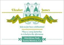 De Kaart van de Uitnodiging van het huwelijk Stock Afbeelding