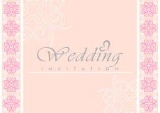 De Kaart van de Uitnodiging van het huwelijk Royalty-vrije Stock Foto's