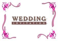 De Kaart van de Uitnodiging van het huwelijk vector illustratie