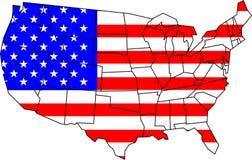 De kaart van de V.S. Royalty-vrije Stock Afbeelding