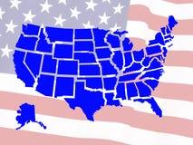De kaart van de V.S. Stock Foto