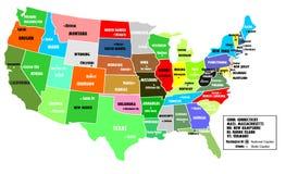 De kaart van de V.S. Royalty-vrije Stock Fotografie