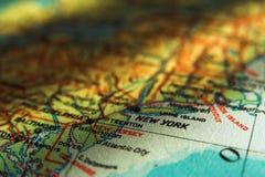 De kaart van de V.S. - NEW YORK Stock Foto's