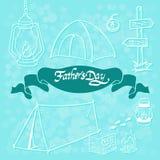 De kaart van de vader` s dag Stock Foto