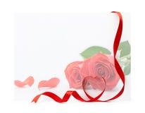 De kaart van de valentijnskaart Royalty-vrije Stock Foto