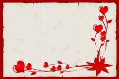 De kaart van de valentijnskaart. Stock Fotografie