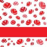 De kaart van de valentijnskaart Royalty-vrije Stock Fotografie