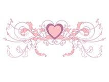 De kaart van de valentijnskaart Royalty-vrije Stock Foto's