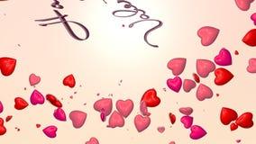 De kaart van de valentijnskaart stock footage