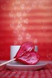 De kaart van de valentijnskaart Stock Foto