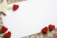 De Kaart van de valentijnskaart Stock Foto's