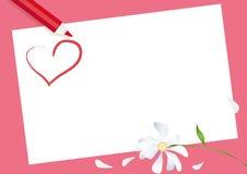 De Kaart van de valentijnskaart Stock Afbeeldingen