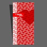 De kaart van de valentijnskaart. Hart. Royalty-vrije Stock Foto's