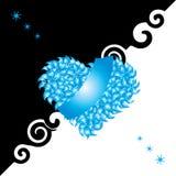 De kaart van de valentijnskaart, hart, liefde Stock Foto's