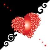 De kaart van de valentijnskaart, hart, liefde Stock Fotografie