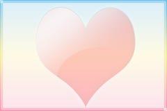 De kaart van de valentijnskaart met één groot hart Vector Illustratie