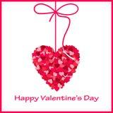 De kaart van de valentijnskaart met hart Royalty-vrije Stock Fotografie