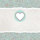 De kaart van de valentijnskaart met hart. EPS 8 Royalty-vrije Stock Afbeelding