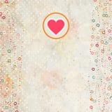 De kaart van de valentijnskaart met placeholder. EPS 8 Stock Foto's