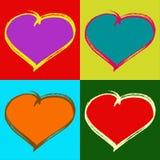 De kaart van de Valentijnskaarten van het pop-art Stock Foto