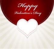 de kaart van de valentijnskaartendag Stock Foto