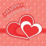 De kaart van de valentijnskaartendag Royalty-vrije Stock Afbeeldingen