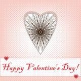 De kaart van de valentijnskaartendag Stock Foto's