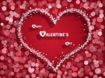 De kaart van de valentijnskaartendag vector illustratie