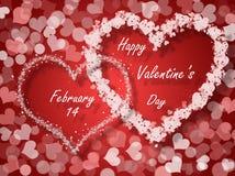 De kaart van de valentijnskaartendag Stock Afbeeldingen