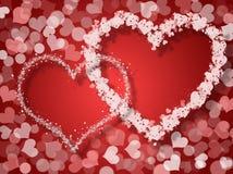 De kaart van de valentijnskaartendag royalty-vrije illustratie