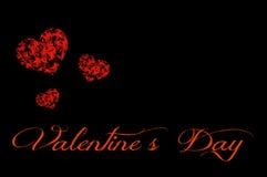De Kaart van de valentijnskaartendag Stock Fotografie